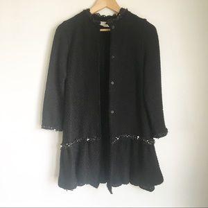 ZARA knit black blazer with embellished detail